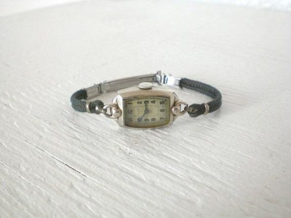 Vintage Elgin Ladies Watch Works 10K Gold Filled Gemex