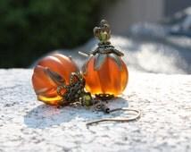 Pumpkin Earrings Halloween Earrings Harvest Jewelry Thanksgiving Earrings Jack O Lantern Fall Earrings Autumn Earrings Orange Earrings 026