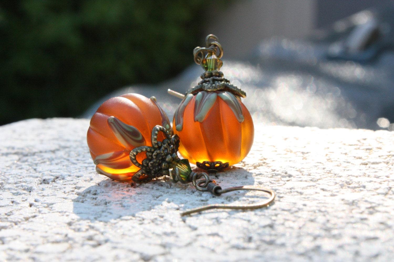 pumpkin fall earrings earrings o lantern