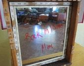 Repurposed Vintage Wooden Drawer as Mirror/Message Board