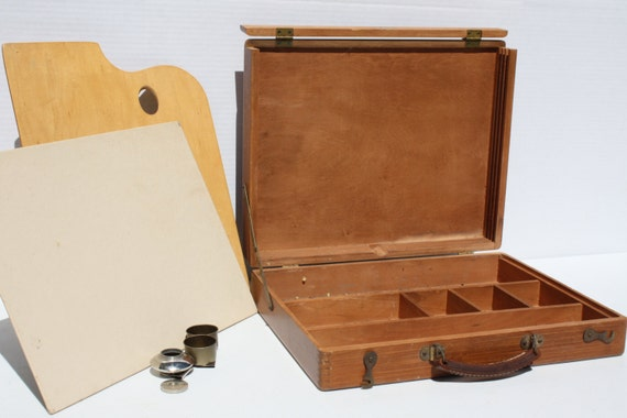 Vintage Artist Paint Box Portable Grumbacher