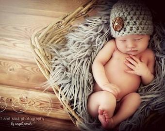 Newborn Baby Boy Photo Prop Hat