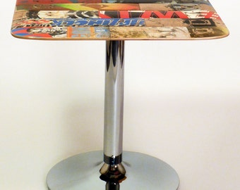Recycled Skateboard Cafe Table - 30 x 30 Square by Deckstool