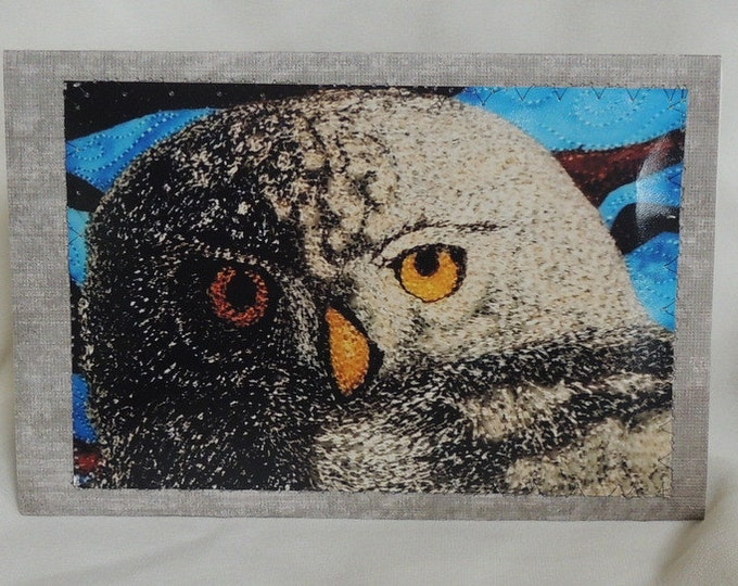 Featured listing image: Owl Stitched Photo Art Card
