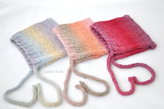 Newborn Knit Bonnet | Knit Pixie Bonnet | Newborn Ombre Bonnet | Girls Newborn Elfin Bonnet | Knit Baby Bonnet | Newborn Phot Prop