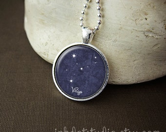 Virgo Constellation Necklace, Virgo Constellation Pendant, Virgo Zodiac Sign, Virgo Jewelry, Virgo Necklace, Zodiac Necklace
