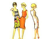 Vintage 1960s Sexy Sheath Dress Uncut Bust 33 - 36 Size 13 - 16 Quaker Oats 1 McCalls