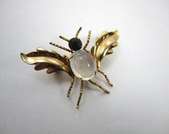 Van Dell Vintage Brooch Vintage Brooch Gold Brooch Lapel Pin Women Teens Costume Jewelry Brooch Mad Men 60's