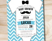 MUSTACHE BASH ONESIE Baby Shower Invitation - Your Print diy