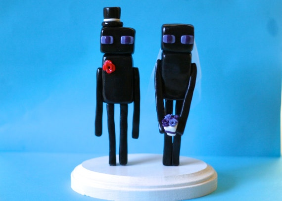How To Enderman Cake Topper