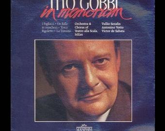 In Memoriam Tito Gobbi Sings Great Opera Baritone Arias from Verdi Puccini Leoncavallo Vintage Vinyl Record Album, 1984 Seraphim LP