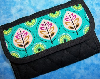 Women Wallet - Credit Card Holder Small Wallet Fabric Business Card Wallet Vegan Wallet Mini Wallet Ladies Wallet Trifold Wallet Velcro