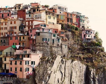 Italy Photo - Fine Art Photography, Cinque Terre, Italy, Mediterranean, coastline, harbor, print, Italian Riviera, colorful, art, travel