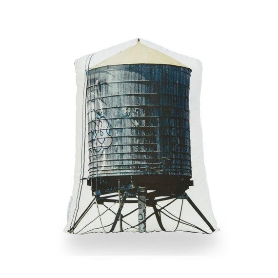 Brooklyn Water Tower Printed Pillow
