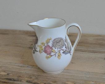 Vintage Wedgwood Litchfield pattern W4156 - Small Milk Jug - Floral design