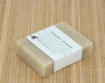 Oatmeal Lavender Essential Oil Soap, 4 Ounces