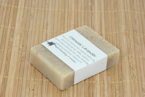 Oatmeal Lavender Essential Oil Soap 4 Ounces by aprilshowerssoaps