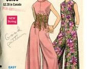 Vogue 7498 Evening Jumpsuit Pantdress Split Skirt Dress Sewing Pattern B32.5