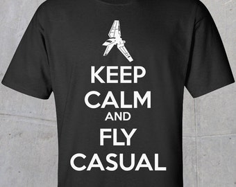 Star Wars Keep Calm and Fly Casual Imperial Shuttle