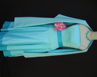 Vintage Mori Lee Madeline Gardner Turquoise Stole Bridal Stole Wrap for Bridesmaid Dress Bridal Wedding Prom Dress Satin Stole OD