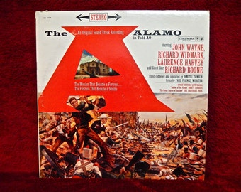 The ALAMO - Original Motion Picture Soundtrack - 1960  Vintage Vinyl Record Album