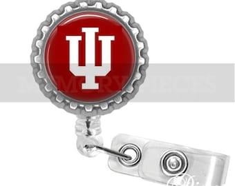 IU - Indiana University changeable Badge Reel