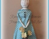 Primitive Easter Rabbit, Primitive Rabbit, Easter Bunny, Spring, Easter, Rabbit, Bunny, Folk Art Rabbit