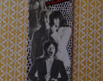 "The Rolling Stones ""It's Only Rock & Roll"" Handmade Collage Bookmark by Pepperland"