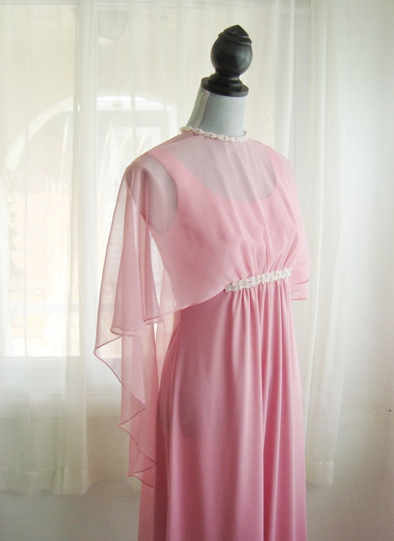 Pink Chiffon Dream, Formal, Prom, Bridesmaid Dress, Size Small