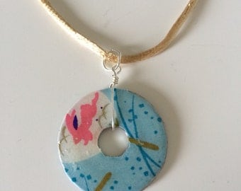 ONLY ONE!! Bunny Rabbit Origami Washer Necklace
