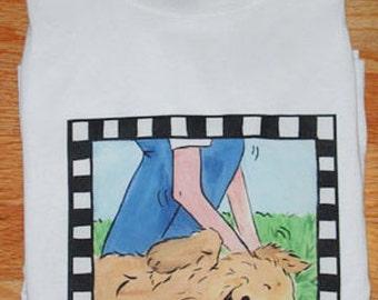 Golden Retriever The Spot T shirt