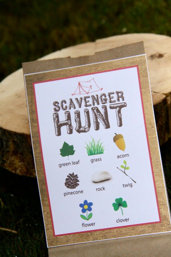 Items Similar To Printable Camping Party Scavenger Hunt