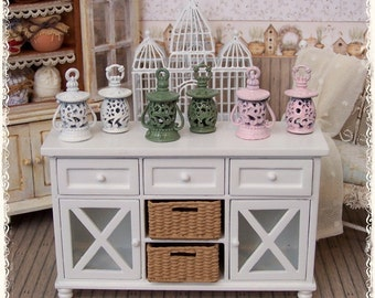 Three LANTERNS Shabby dollhouse miniature by Soraya Merino