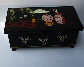 Musical Jewelry Box Lacquered