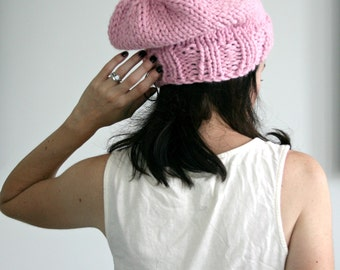Slouchy Knit Hat in Blossom/THE CHELSEA