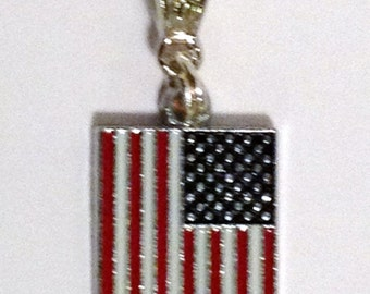 US RECTangLE FLAG AMEriCa Pendant European Charm, WOrld Cup Championship 2018 OLYmpiCs Korea Bracelet Necklace Save 3/7.95 Collect them all