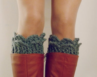 Boot Socks Pattern Crochet PDF - Lucy Leg Warmers, boot socks, boot topper, boot cuff - Instant DOWNLOAD