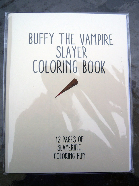 Buffy The Vampire Slayer Coloring Book by sweetgeek on Etsy