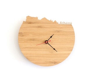 Athens Wall Clock - Athens Modern City Skyline Wall Clock - Greece