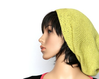 SALE Bohemian Slouch Hat Hand Knit Beret Womens knitted Hat