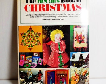The McCall's Book of Christmas - Vintage - Craft Book - Complete how to instructions and patterns