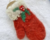 Red Mitten Ornament- needlefelted