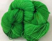 IT IS GREEN hand painted superwash merino sock yarn
