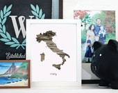 Printable Your Home Country - Italy - INSTANT DOWNLOAD 8x10