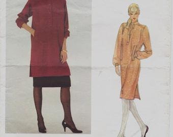 80s Yves Saint Laurent Womens Pullover Dress, Tunic & Skirt Vogue Paris Original Sewing Pattern 2773 Size 12 Bust 34 UnCut