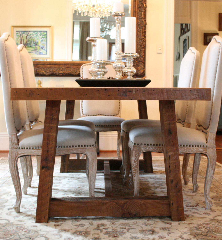 Farm Dining Tables: The Pecky Dining Table-Farmhouse Style Table Made Reclaimed