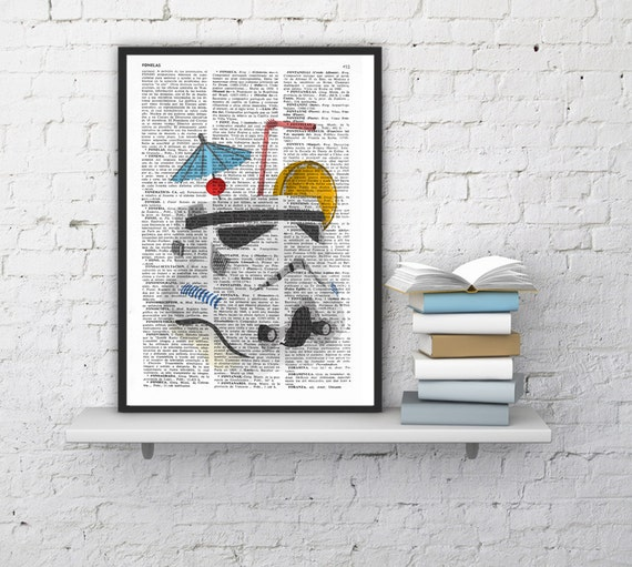 Christmas Sale STORMTROOPER Cocktail Print,Unique Funny Gift Idea, STAR WARS Poster,Gift from Bride, Dad Gift, New Job Gift TYQ048