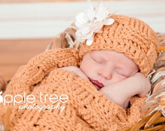 Set of 4 Crochet Patterns for Basket Weave Cocoon, Swaddle Sack, Bowl, & Beanie Hat - Multiple Sizes - Welcome to sell finished items