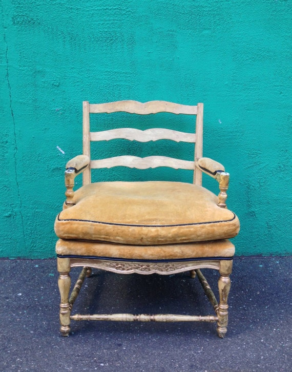 Vintage upholstered arm chair by edward ferrell lewis mittman for Edward ferrell lewis mittman
