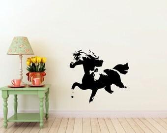 Horse running, Nature, vinyl Wall DECAL- interior design, sticker ORIGINAL art, room, home and business decor